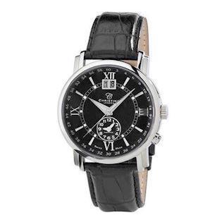 434404d1609 504SBLBL Christina Design London Herre ur med læderem og sort urskive